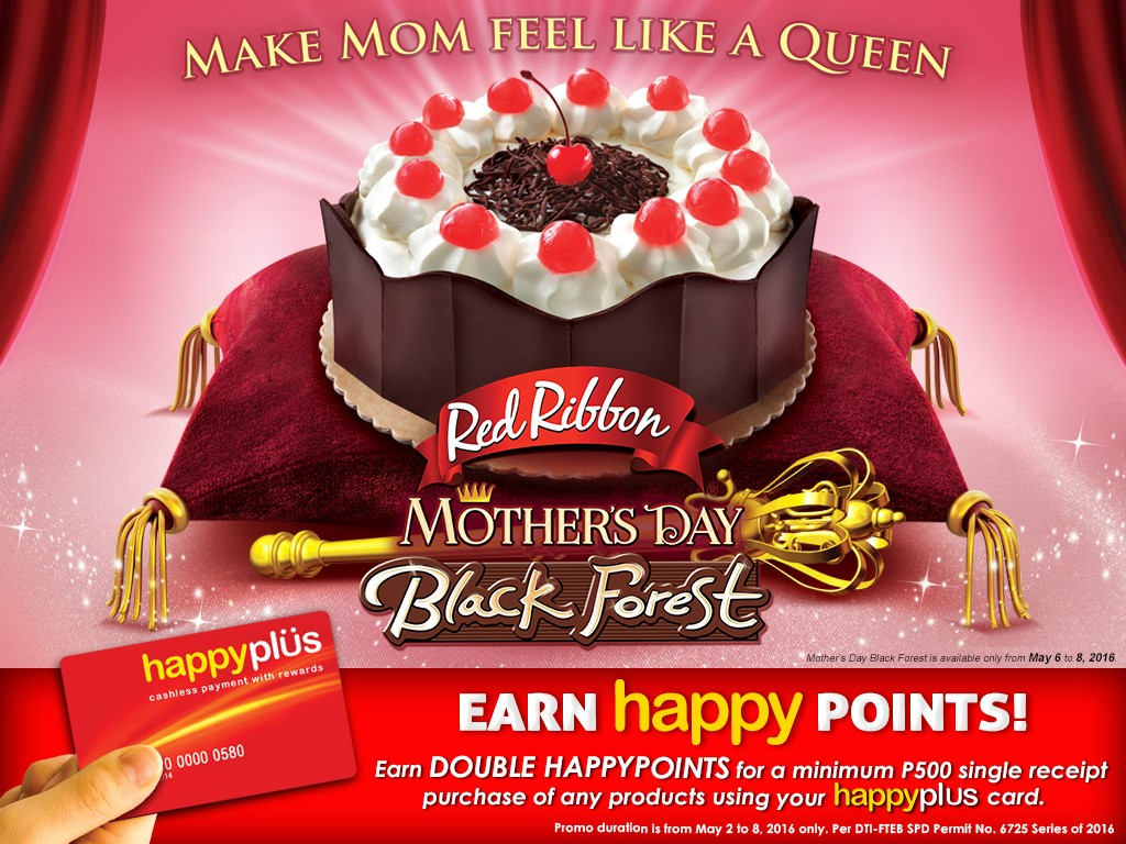 Red Ribbon Mothers Day Happyplus