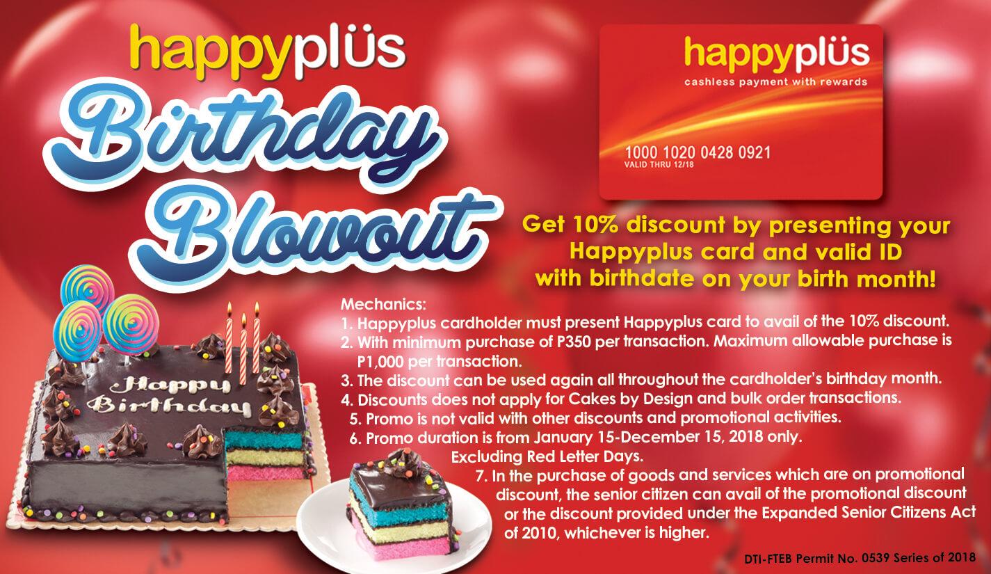 Red Ribbon Birthday Blowout 2018 Happyplus